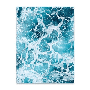 Nordic Style Ocean Waves Canvas Art Unframed poster WickedAF