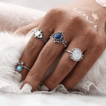 Jasmine Boho Ring Set 4pcs Ring Set WickedAF