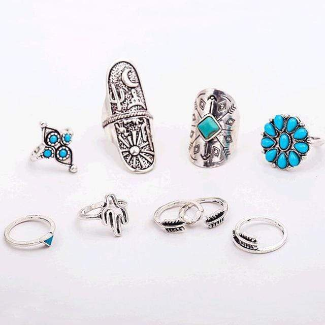 Boho Desert Ring Set 9pcs Ring Set WickedAF Default Title