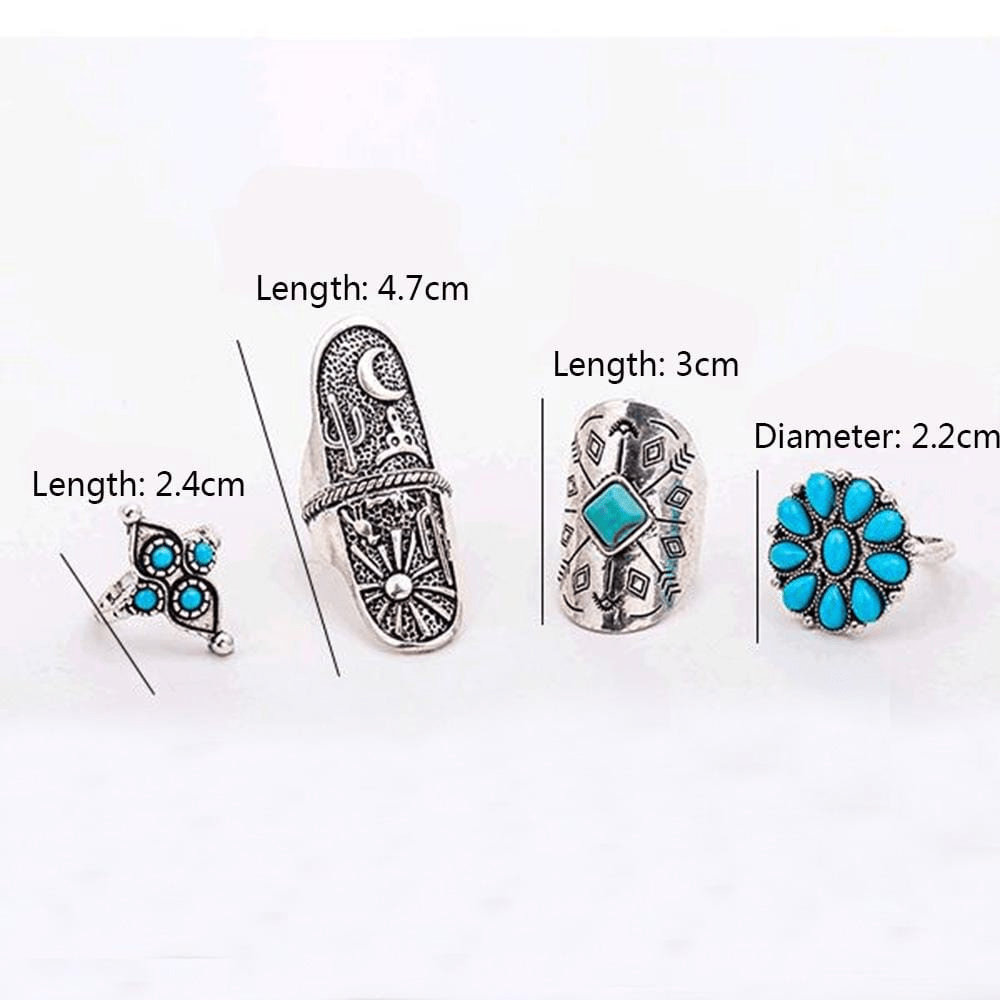 Boho Desert Ring Set 9pcs Ring Set WickedAF