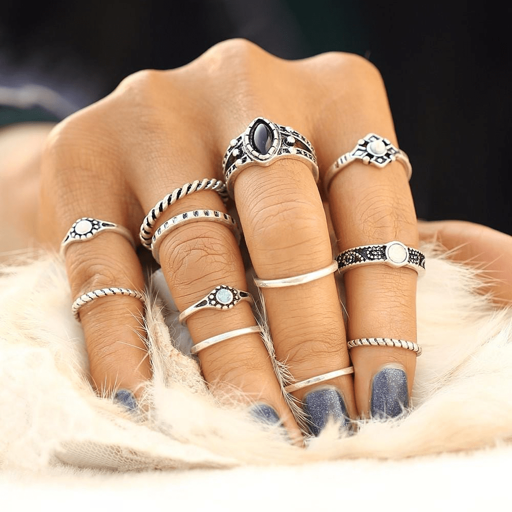 Majestic Boho-Chic Ring Set Ring Set WickedAF