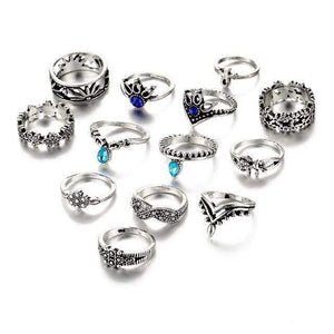 Bondi Ring Set 13 pcs Ring Set WickedAF Silver