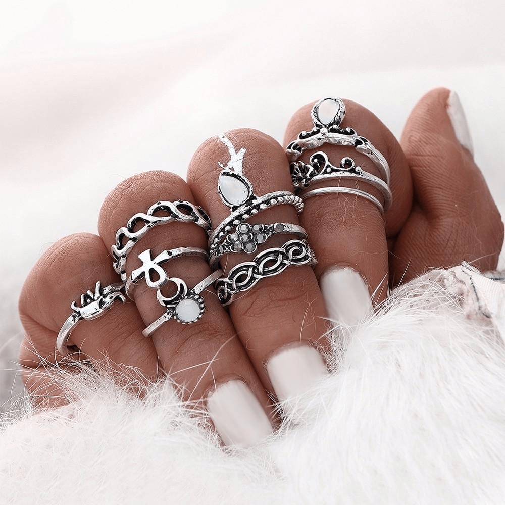 Moon Child Ring Set 10pcs rings WickedAF
