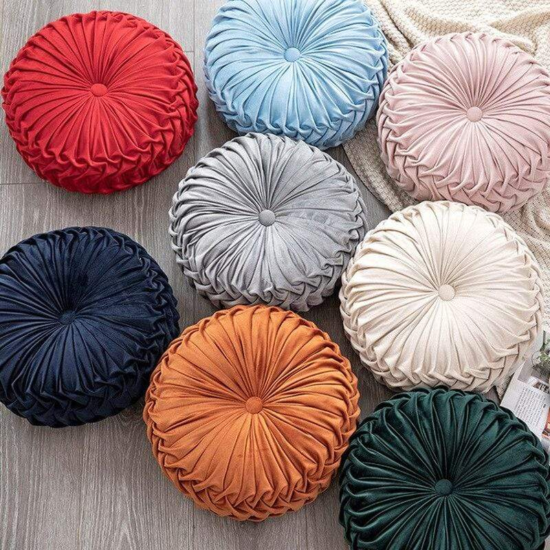 WickedAF Round Pintuck Pillow