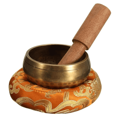 Tibetan Singing Bowl with Mat singing bowl WickedAF
