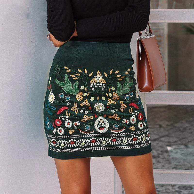 WickedAF skirt Boho High Waisted Pencil Skirt