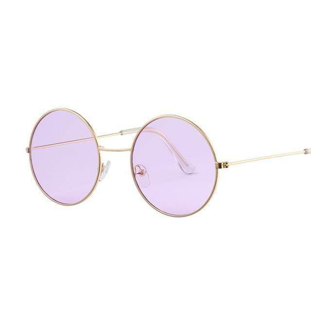 Vintage Round Sunglasses (8 Styles) sunglasses WickedAF Gold Purple