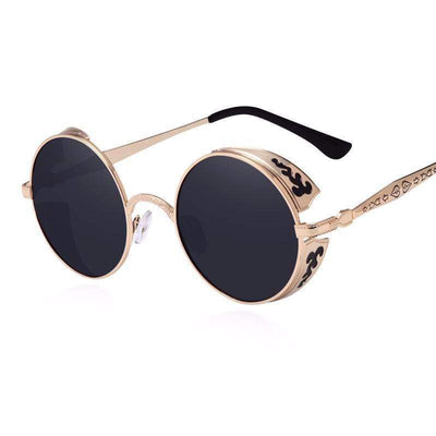 Steampunk Vintage Round Sunglasses Limited Edition sunglasses WickedAF