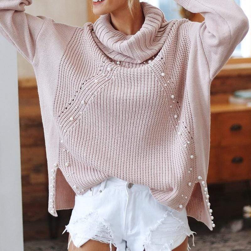 Maya Beading Turtleneck Sweater sweater WickedAF