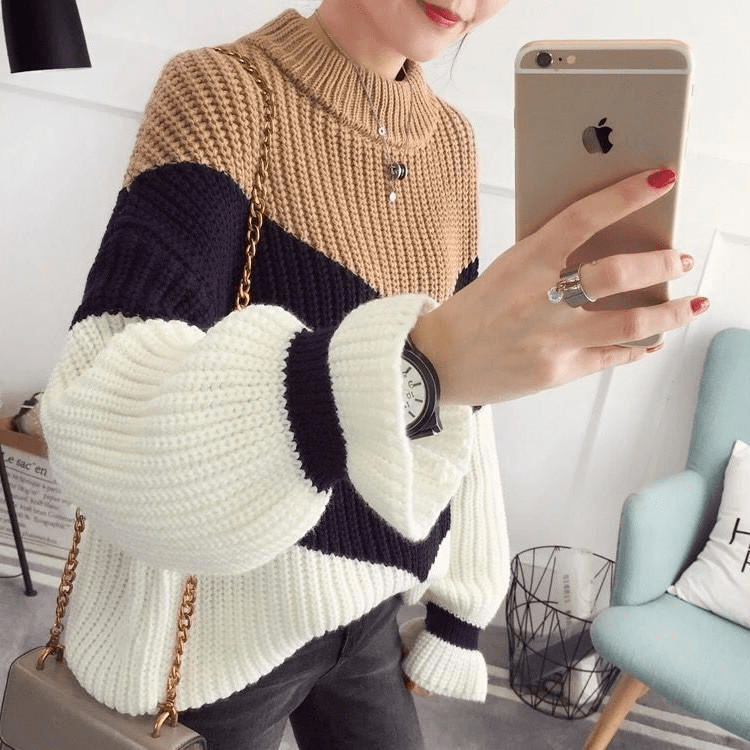 Aries Ribbed Sweater (4 Colors) sweater WickedAF
