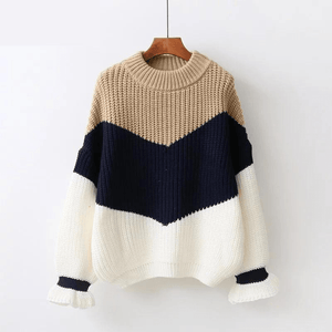Aries Ribbed Sweater (4 Colors) sweater WickedAF Beige One Size