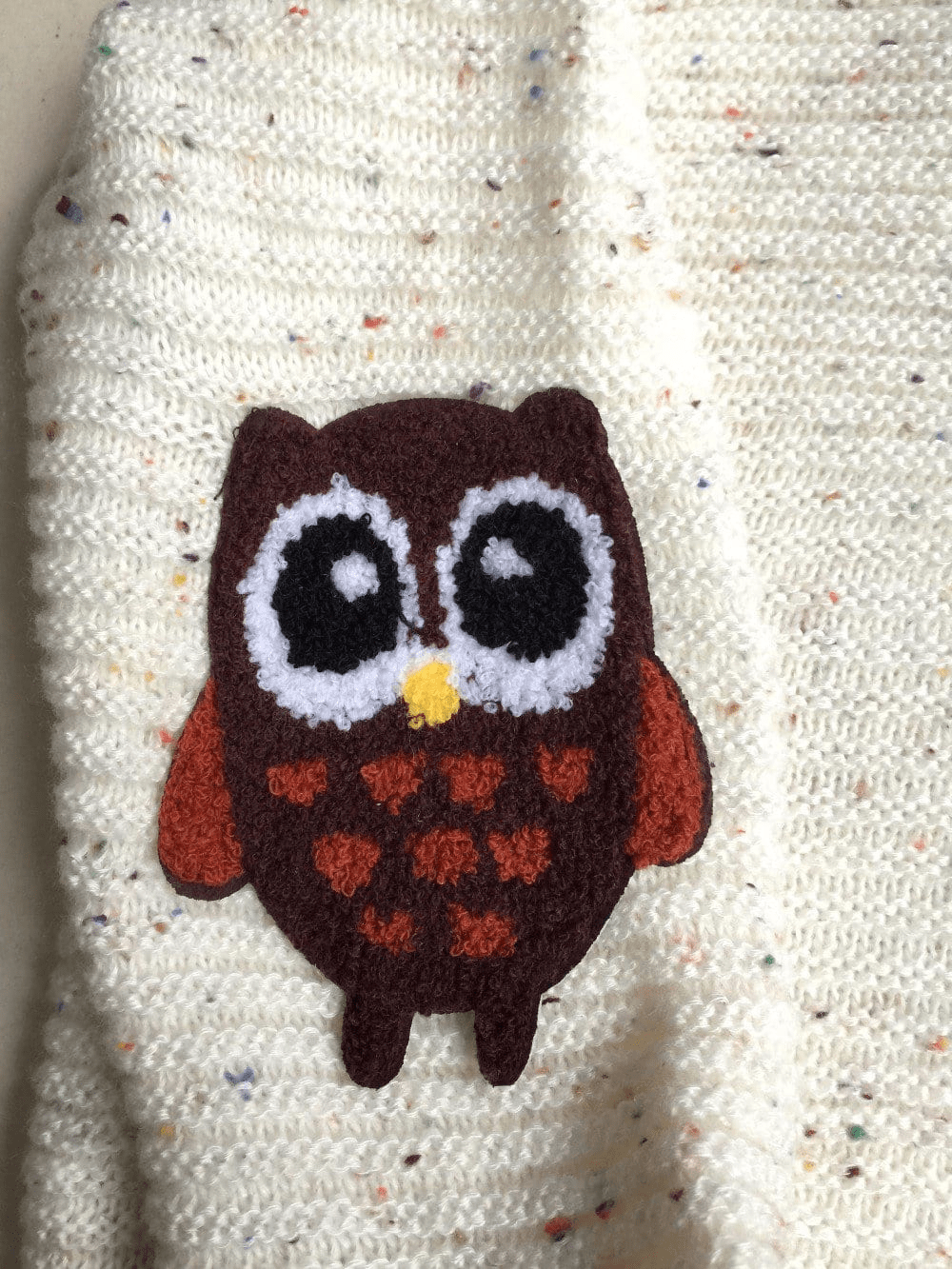 Woodland Owl Patch Sweater sweater WickedAF