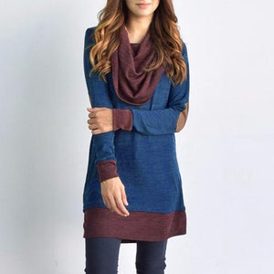 Hippie Sweater Dress (2 Colors) sweater WickedAF Blue L