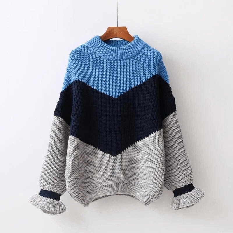 Aries Ribbed Sweater (4 Colors) sweater WickedAF Blue One Size