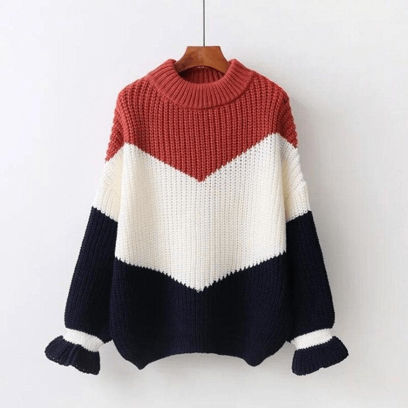 Aries Ribbed Sweater (4 Colors) sweater WickedAF Brick Red One Size