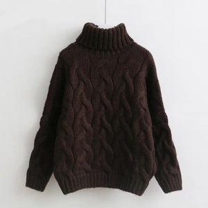 Jessa Turtleneck Sweater (4 Colors) sweater WickedAF Brown One Size
