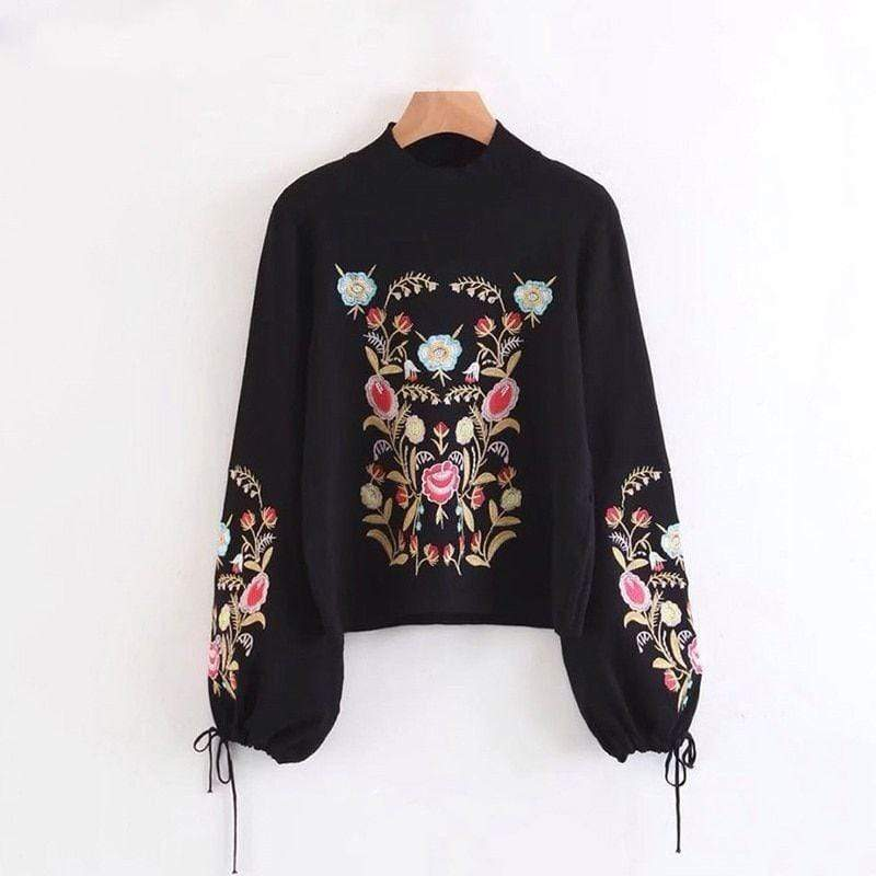 Floral Autumn Knit Sweater sweater WickedAF