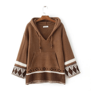 Free Spirits Knitted Hoodie sweater WickedAF
