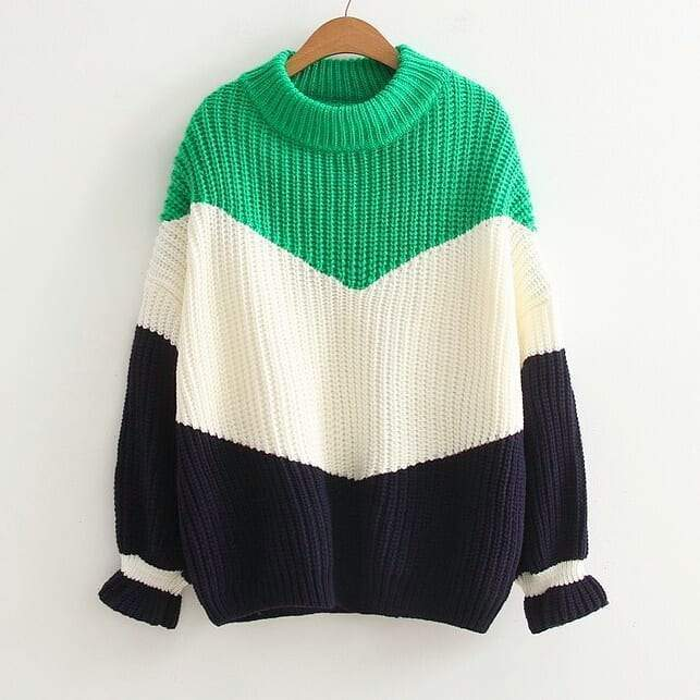 Aries Ribbed Sweater (4 Colors) sweater WickedAF Green One Size