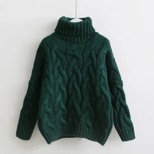 Jessa Turtleneck Sweater (4 Colors) sweater WickedAF Green One Size