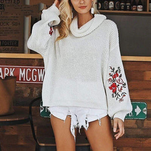 Kendresa Floral Embroidered Sweater sweater WickedAF