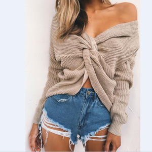 Knitted Twisted V Sweater sweater WickedAF