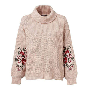 WickedAF sweater Lotus Color / One Size Kendresa Floral Embroidered Sweater