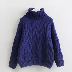 Jessa Turtleneck Sweater (4 Colors) sweater WickedAF Navy One Size