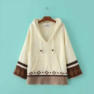 Free Spirits Knitted Hoodie sweater WickedAF white One Size