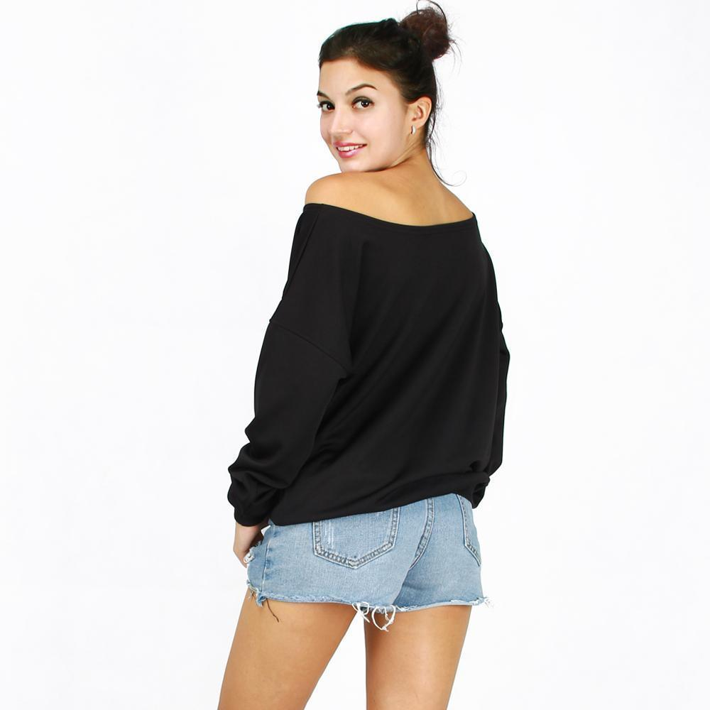 Boho Elephant Off the Shoulder Sweatshirt sweatshirt WickedAF