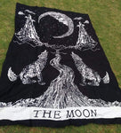 Crying Wolf of the Moon Tapestry tapestry WickedAF