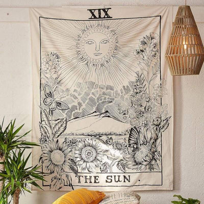 The Sun Tarot Card Tapestry tapestry WickedAF