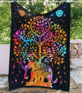 WickedAF tapestry Tree of Life Elephant Tapestry