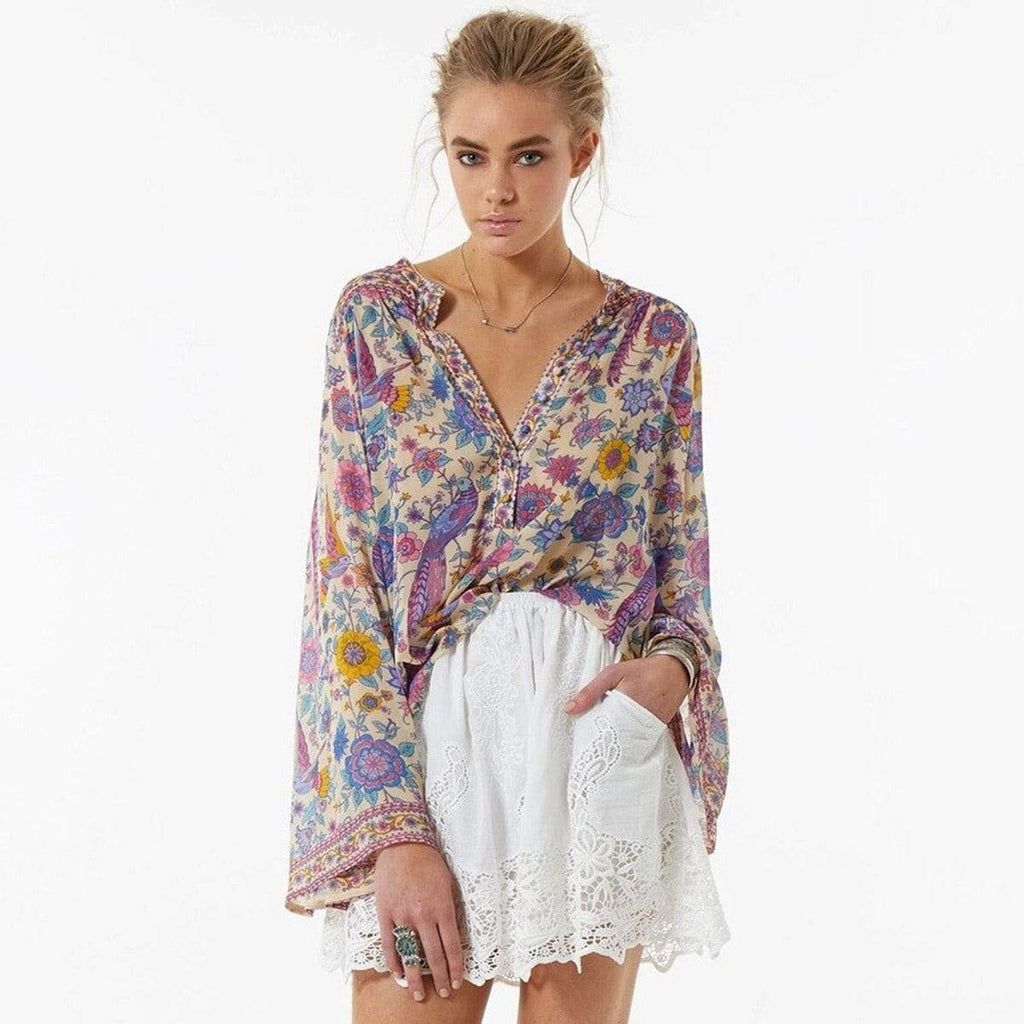Chamomile Lovebird Blouse top WickedAF