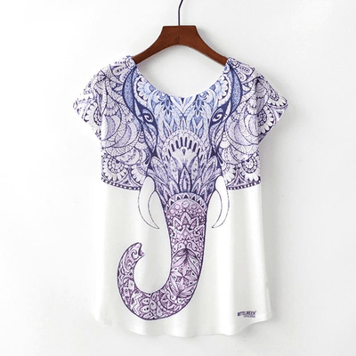 Ornate Elephant Print Tee top WickedAF
