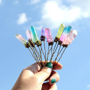 Unicorn Dreams Quartz Crystal Hair Pins WickedAF