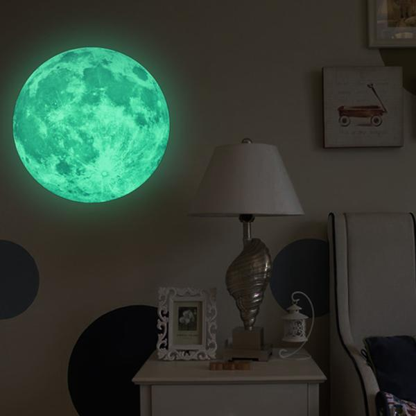 Glow in the Dark Moon Wall Sticker wall stickers WickedAF