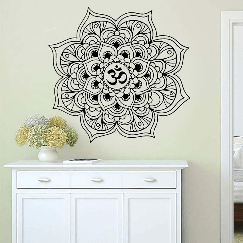 Om Mandala Wall Sticker wall stickers WickedAF