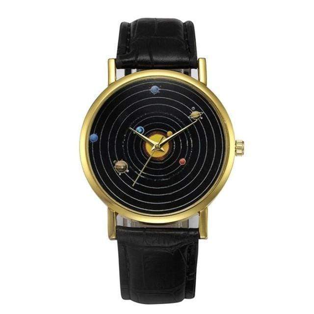 Solar System Wrist Watch watches WickedAF Black