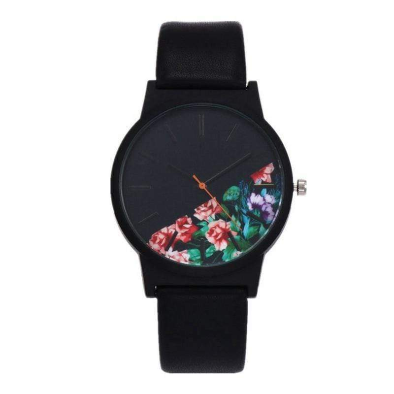 Noir Floral Wrist Watch watches WickedAF