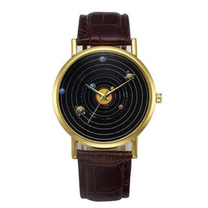 WickedAF watches Brown Solar System Wrist Watch