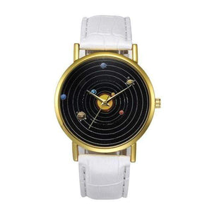 WickedAF watches White Solar System Wrist Watch