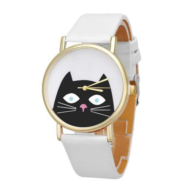 Curious Cat Wrist Watch watches WickedAF White