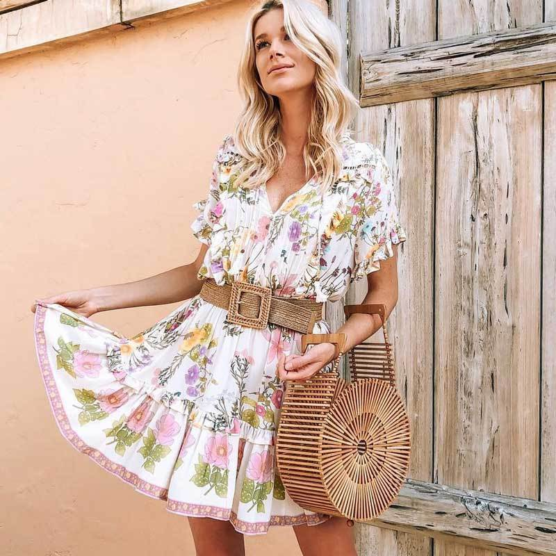 Wild Floral Print Mini Dress WickedAF
