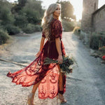 Godiva Maxi Dress WickedAF WINE RED L