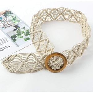 Woven Belt with Circle Buckle WickedAF