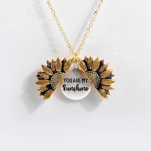 You Are My Sunshine Sunflower Necklace WickedAF