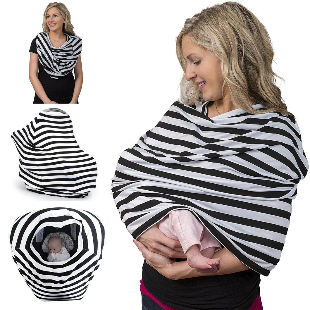 Breastfeeding Cover & Nursing Scarf (Black)