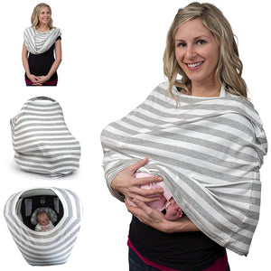 Breastfeeding Cover & Nursing Scarf (Grey)