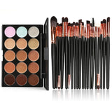 15 Colors professional concealer palettE + 20pcs makeup brushes set